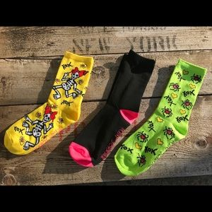 New 3 pairs of Betsey Johnson Crew Socks 5-10
